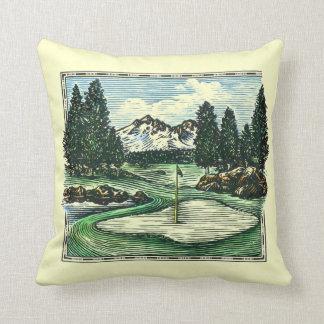 Vintage classic golf course decorative pillow
