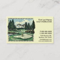 Vintage classic golf instructor business cards
