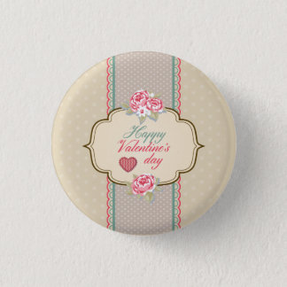 Vintage Classic Happy Valentine's Day Pin Button