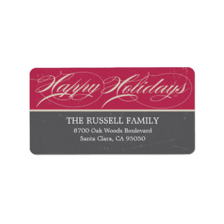 Vintage Classic Holiday Address Labels Personalized Address Labels