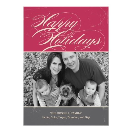 Vintage Classic Holiday Photo Cards