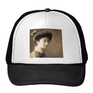 Vintage Classic Japanese Beauty Geisha 芸者 Japan Trucker Hat