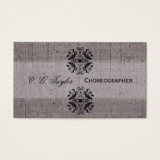 Vintage Classic Look  Style Performing Business Card