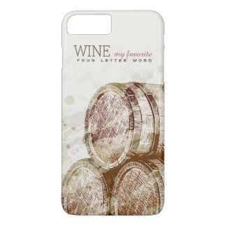 Vintage Classic Old Wine Barrel Personalized iPhone 7 Plus Case