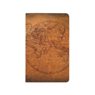 Old world map notebooks journals zazzle vintage classic old world travel map journal sciox Images