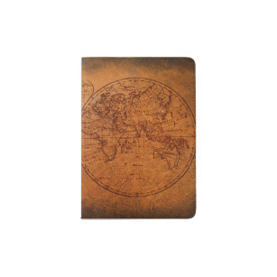 Old world map gifts on zazzle vintage classic old world travel map passport holder gumiabroncs Gallery