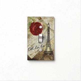 Vintage Classic Paris Floral Style Light Switch Cover