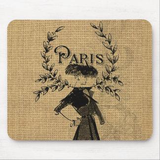 Vintage Classic Paris Lady Mouse Pad