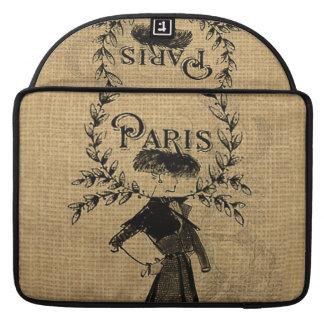 Vintage Classic Paris Lady Sleeve For MacBook Pro