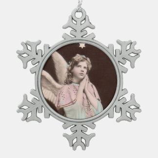 vintage classic photo angel ornament