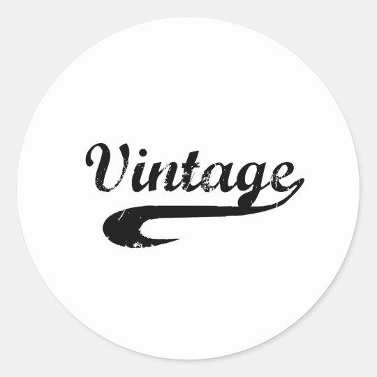Vintage Classic Round Sticker