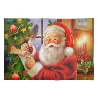 Vintage classic Santa Claus Cloth Placemat