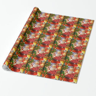 Vintage classic Santa Claus Wrapping Paper