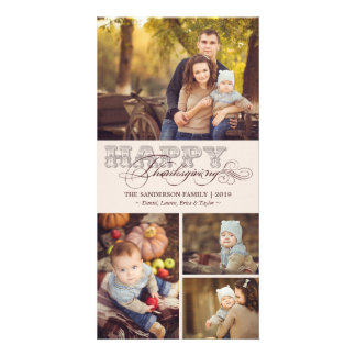 Vintage Classic Scrolls Thanksgiving Holiday Photo Photo Card