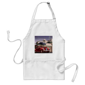 Vintage Classic Sedan Cars Driving on the Freeway Adult Apron