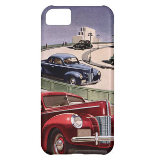 Vintage Classic Sedan Cars Driving on the Freeway Case For iPhone 5C