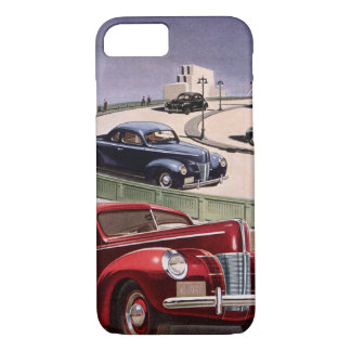 Vintage Classic Sedan Cars Driving on the Freeway iPhone 8/7 Case