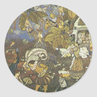 Vintage Classic Storybook Characters, Edmund Dulac Classic Round Sticker