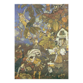 Vintage Classic Storybook Characters Edmund Dulac Custom Invites