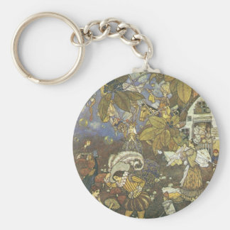 Vintage Classic Storybook Characters, Edmund Dulac Key Chain