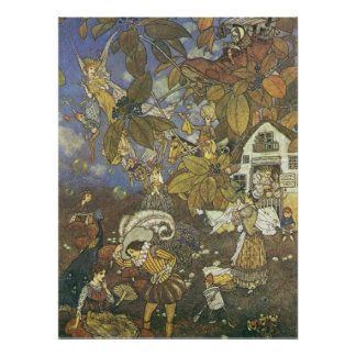 Vintage Classic Storybook Characters, Edmund Dulac Poster