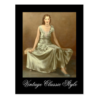 Vintage Classic Style Postcard