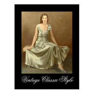 Vintage Classic Style Postcard