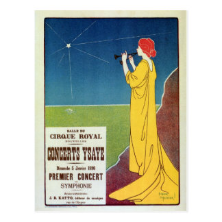 Vintage classical music concert Brussels ad Postcards