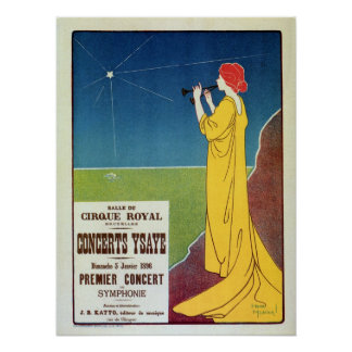 Vintage classical music concert Brussels ad Poster