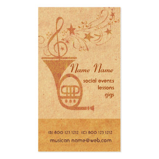 Vintage Classical Music French Horn - DJ Business Card