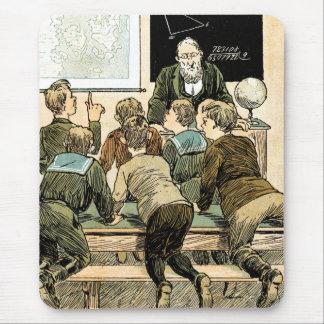 Vintage Classroom Scene. Teacher Day Gift Mousepad