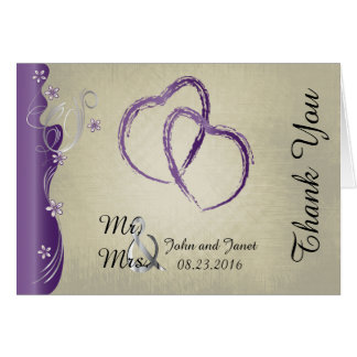 Vintage Classy Amethyst and Silver Design. Card