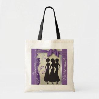 Vintage Classy Curvy Design | Amethyst Purple Canvas Bag