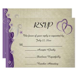Vintage Classy Curvy Design | Amethyst Purple Card