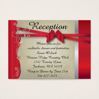 Vintage Classy Curvy Design | Deep Red Business Card