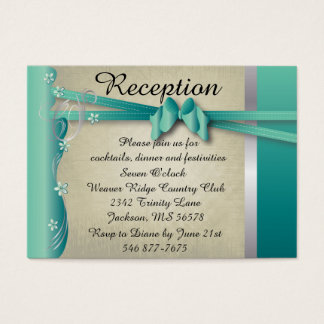 Vintage Classy Curvy Design | Jade and Silver Business Card