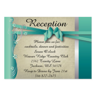 Vintage Classy Curvy Design | Jade and Silver Large Business Card