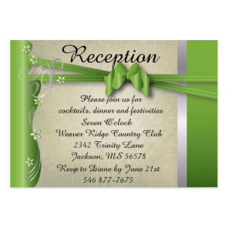 Vintage Classy Curvy Design | Peridot Green Large Business Card