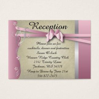 Vintage Classy Curvy Design | Pink Tourmaline Business Card