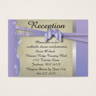 Vintage Classy Curvy Design | Purple & Silver Business Card