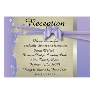Vintage Classy Curvy Design | Purple & Silver Large Business Card