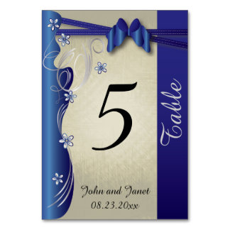 Vintage Classy Curvy Design | Sapphire and Silver Card