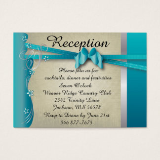 Vintage Classy Curvy Design | Turquoise Blue Business Card