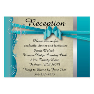 Vintage Classy Curvy Design | Turquoise Blue Large Business Card
