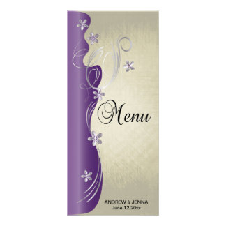Vintage Classy Design | Amethyst and Silver Customized Rack Card