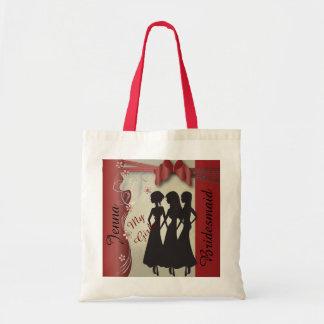 Vintage Classy Garnet Bridesmaid Design Bags