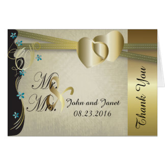Vintage Classy Gold Heart Wedding Collection Card