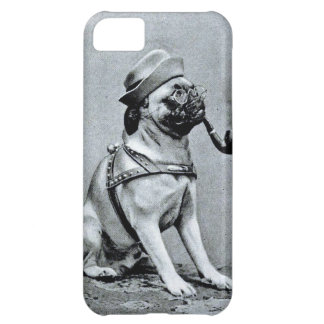 Vintage Classy Pug Photograph iPhone 5C Covers