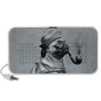 Vintage Classy Pug Photograph Travelling Speaker