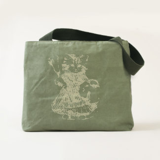 VINTAGE CLEAN UP KITTY - SUPER DESIGN TOTE